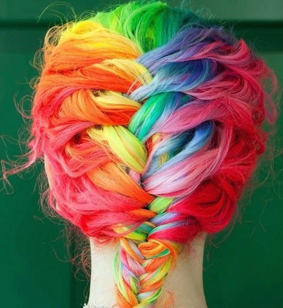 Les rainbow hair ou l'avalanche de couleurs !2