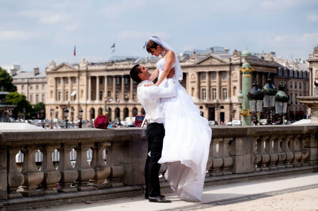 photographe de mariage a paris pont