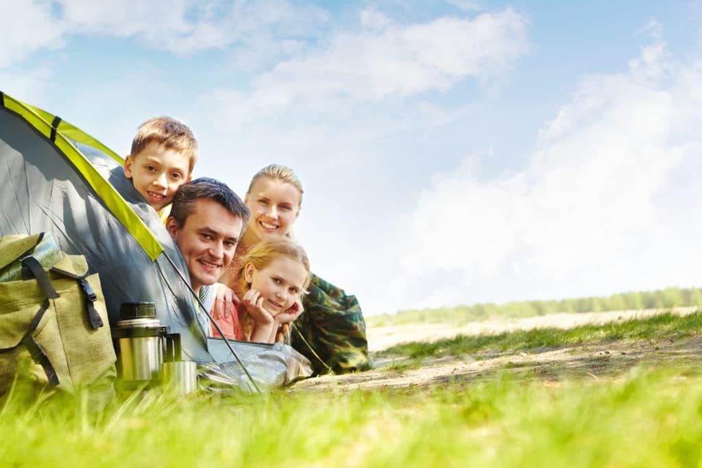 week end en famille heureuse