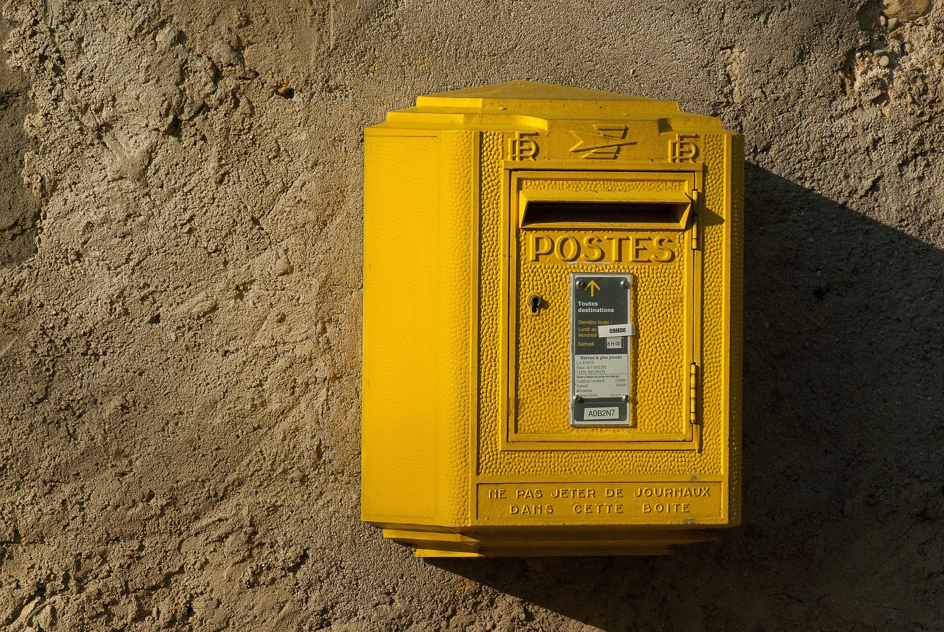 Boîte aux lettres pour l'envoi d'une LRAR